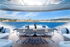 Yacht MISTRAL 55 -  Aft Deck Al Fresco Dining
